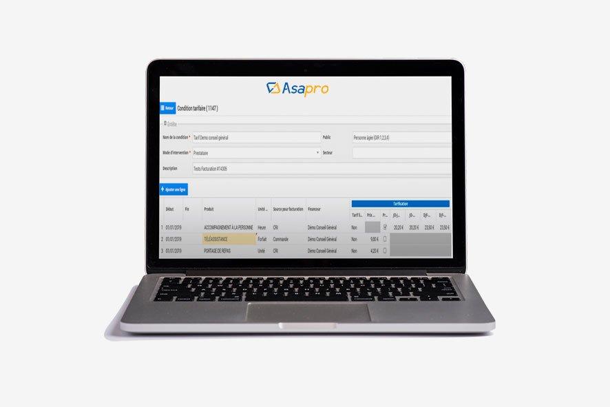 Asapro, outil de facturation multi-financeurs